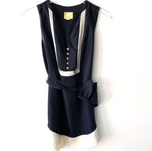 Anthropologie Maeve Dress Navy size 4 B615